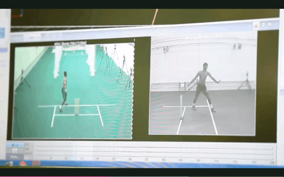 Suspected Bowling action being tested at ICC testing facility