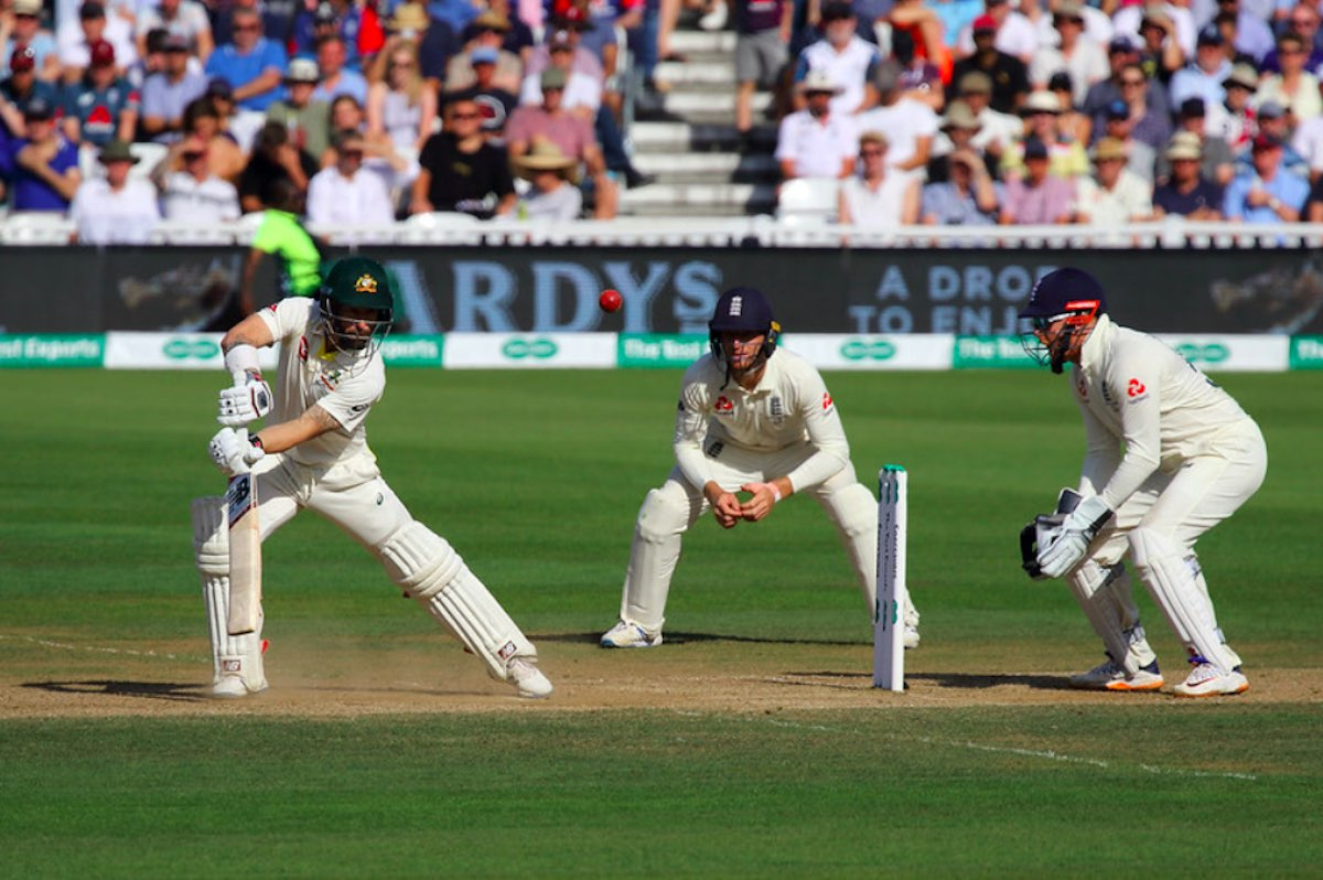 An image of a test match being played between England and Australia